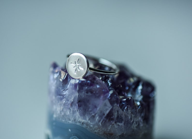 Star Ring Wire Band North Star Stacking Ring