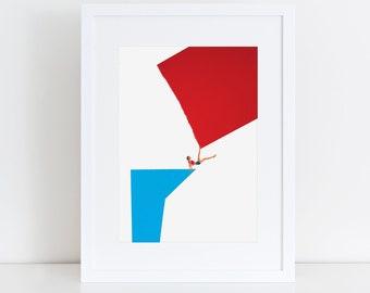 In The Balance Collage Digital Art Print