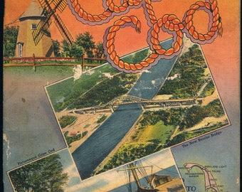 52 Page Souvenir View Book Cape Cod MA Circa 1935