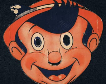 Wheaties Walt Disney Mask Pinocchio Circa 1953