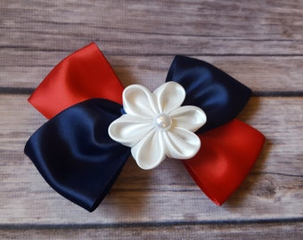 4th of July accessories, 4th of July hair bow, red white and blue hair bow, hair bow, patriotic hair bow, patriotic hair clip, hair clip