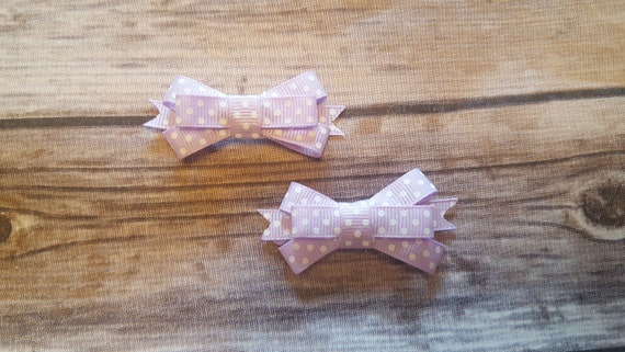 Light Purple Hair Clips Snap Clips Hair Clippies Baby Etsy