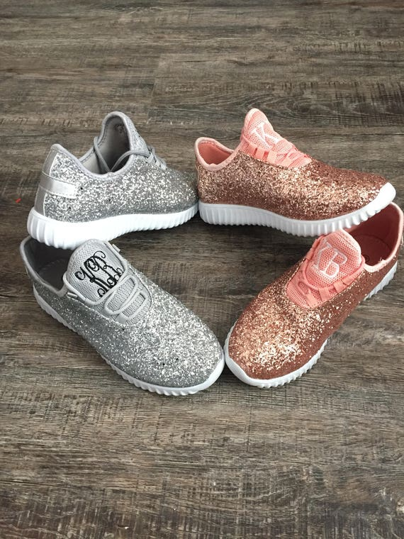 4933d86e8b0 Glitter Bomb Sneakers Personalized Womens shoes Rose Gold