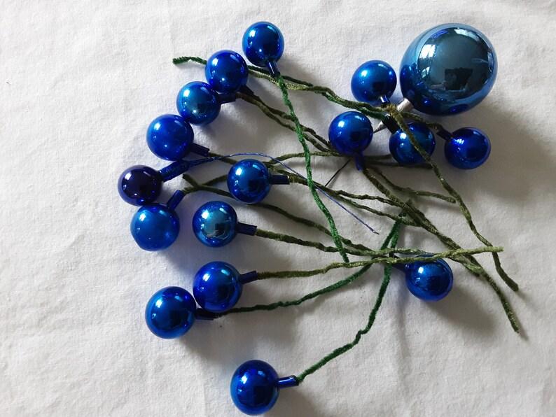 cobalt blue colored glass Vintage stems
