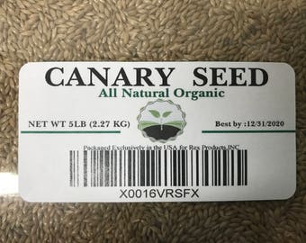 Canary Seed Alpiste 5 lb -Naturally Organic