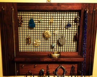 Black walnut necklace and earring board.