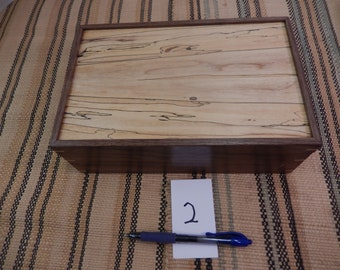 Rosewood-Tiger Maple keepsake box odds and ends box 225