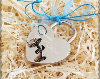 Love Castle with engraving on both sides | Castle | Heart