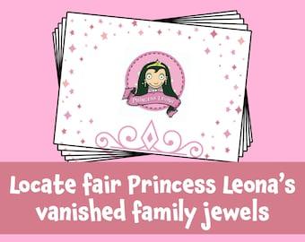 Incredible Treasure Hunts Printable Princess Party Kit with Clues