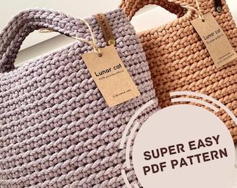 Crochet Tote Bag PatternPDF, Easy Crochet Bag Pattern, DIY Crochet Tote  Bag, Crochet Purse Pattern, Crochet beach bag pattern