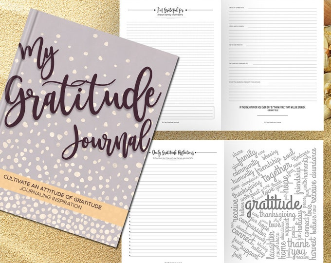Gratitude Journal Writing Prompts. Notebook. Daily Guided Journal Book. Quotes. Thankful Journal. To Write In. Writing Journal. Mauve.