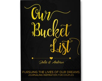 Personalized Bucket List Journal Book for Couples Gift, Custom Name, Custom Cover, Anniversary Wedding Engagement Bridal Gift, Date Night