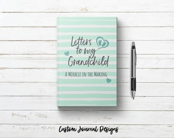 Letters to My Grandchild Unisex Baby Journal Book. Writing Journal Hardcover Notebook. New Grandparent Grandma Gift Keepsake Mint Green