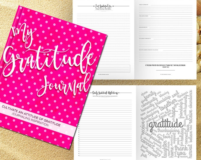 Gratitude Journal Writing Prompts. Notebook. Daily Guided Journal Book. Quotes. Thankful Journal. To Write In. Writing Journal. Fuschia Pink