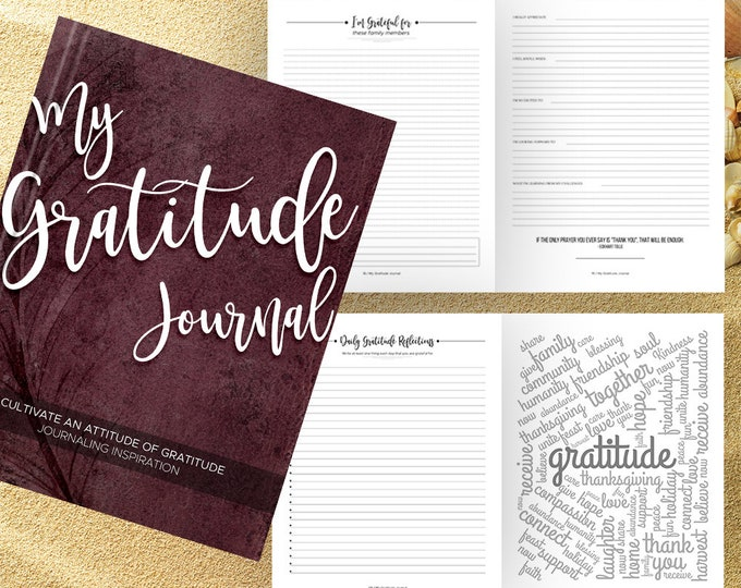 Gratitude Journal Writing Prompts. Notebook. Daily Guided Journal Book. Quotes. Thankful Journal. To Write In. Writing Journal. Wine Journal