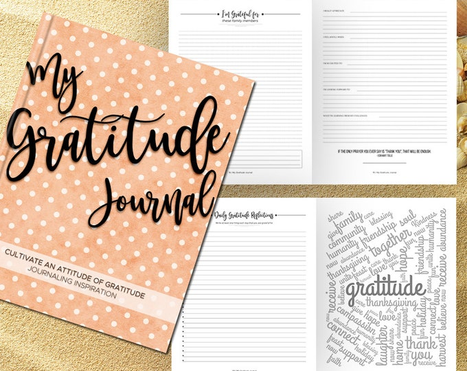 Gratitude Journal Writing Prompts Daily Guided Journal Book. Quotes. Thankful Grateful Gifts Ideas. Birthday Friendship Women Friend. Orange