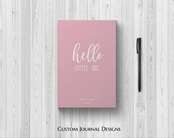 PERSONALIZED Hello Little One Baby Girl. 1st Time Mom. First Year Keepsake Memories Milestones Baby Shower Gift Idea Newborn Daughter Custom