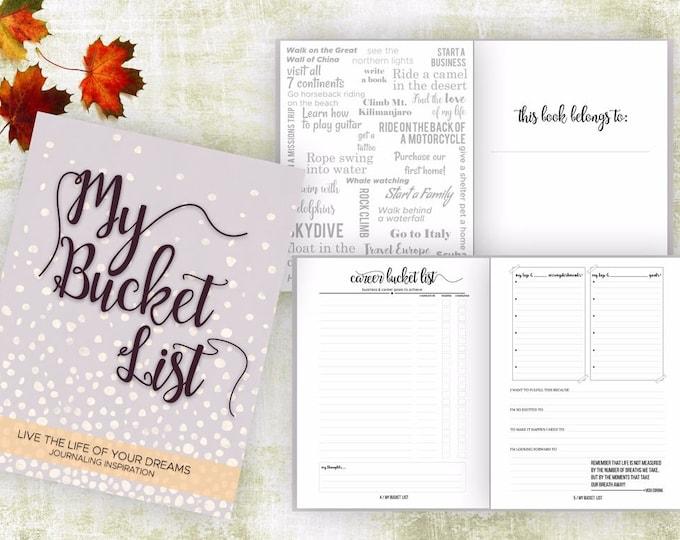 Bucket List Journal. Planner. Writing Prompts. Guided Journal. Bucket List Gift. Bucket List Notebook. Goals. Adventure gifts. Mauve.