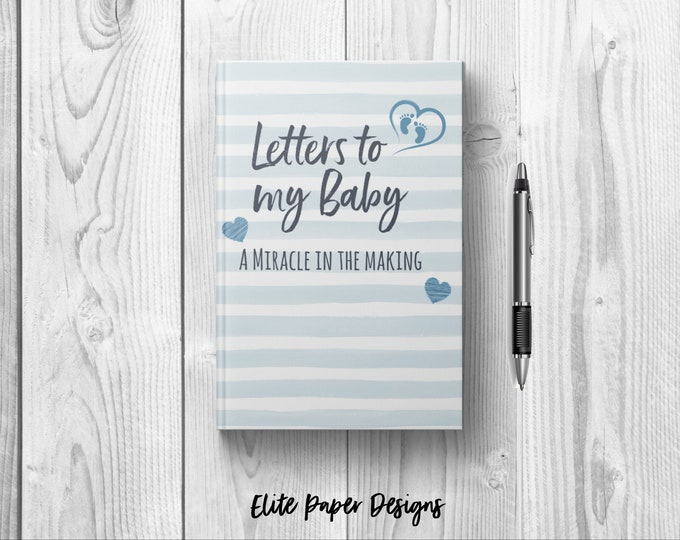 Letters to My Baby Boy Journal Book. Writing Journal to Write In. Lined. Dot Grid. Blank. Hardcover Notebook. Baby Shower Gift Baby Son.