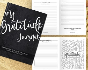 Gratitude Journal Writing Prompts. Notebook. Daily Guided Journal Book. Quotes. Thankful Journal. To Write In. Writing Journal. Charcoal.