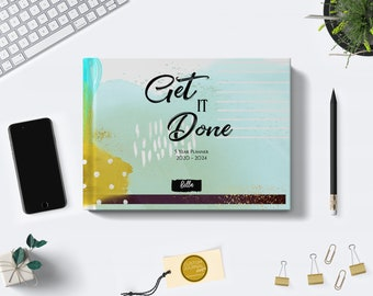 Get It Done 2021-2024 Four Year Monthly Planner Calendar. PERSONALIZED 48 Months 4 Year Appointment Planning Journal Notes. Custom Name Gift