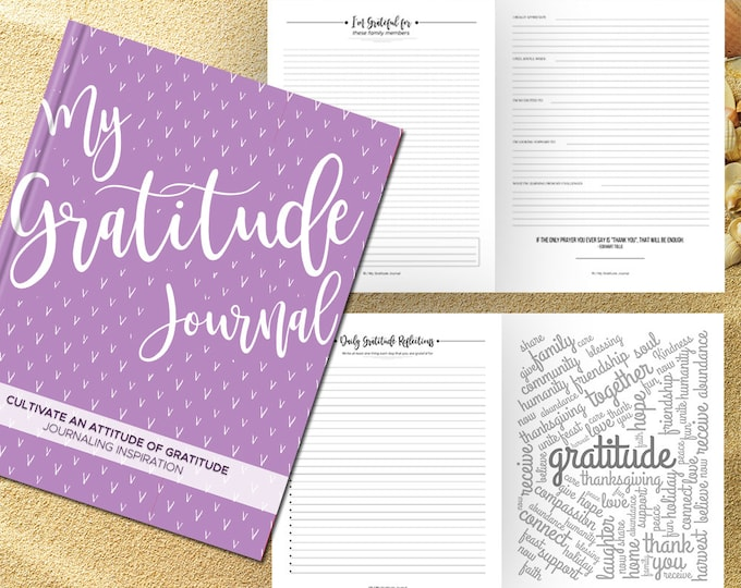 Gratitude Journal Writing Prompts. Notebook. Daily Guided Journal Book. Quotes. Thankful Journal. To Write In. Writing Journal. Lavender.