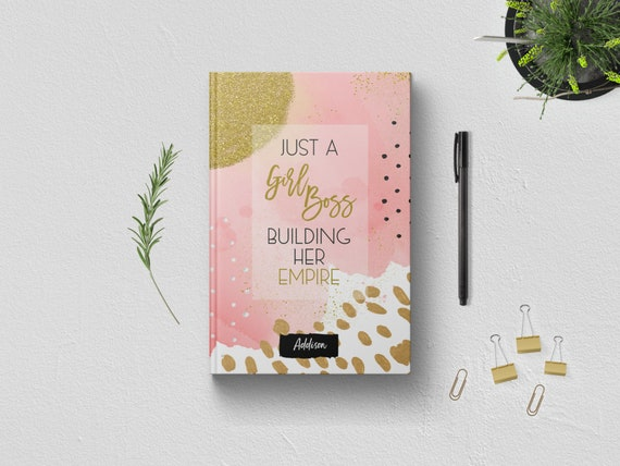 PERSONALIZED Just A Girl Boss Building Her Empire Writing