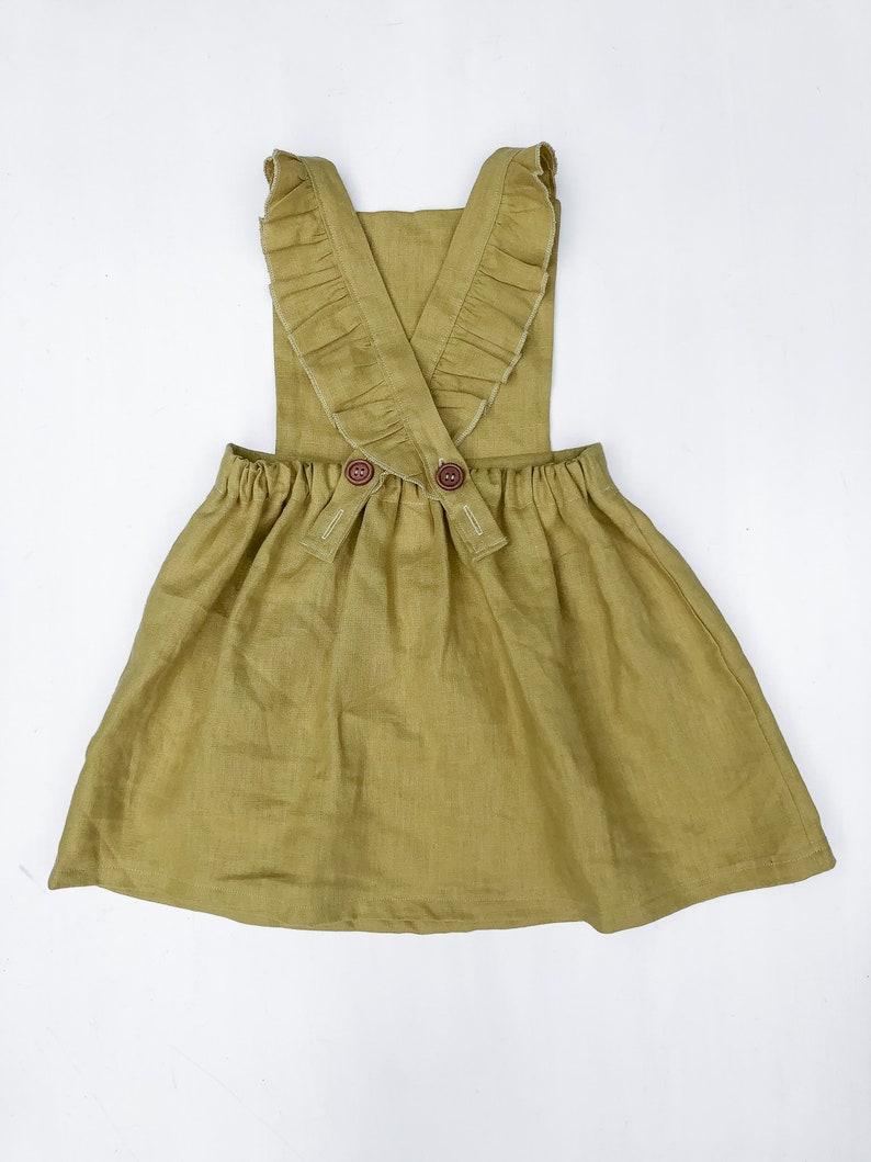 Backless Linen Pinafore Dress