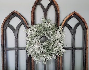 Black Window Frame Cathedral Style Arch