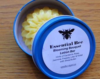 Solid Lotion Bar with Shea Butter, including Tin; 2 oz. lotion bar