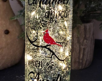 Robin//rememberence  light up frosted bottle