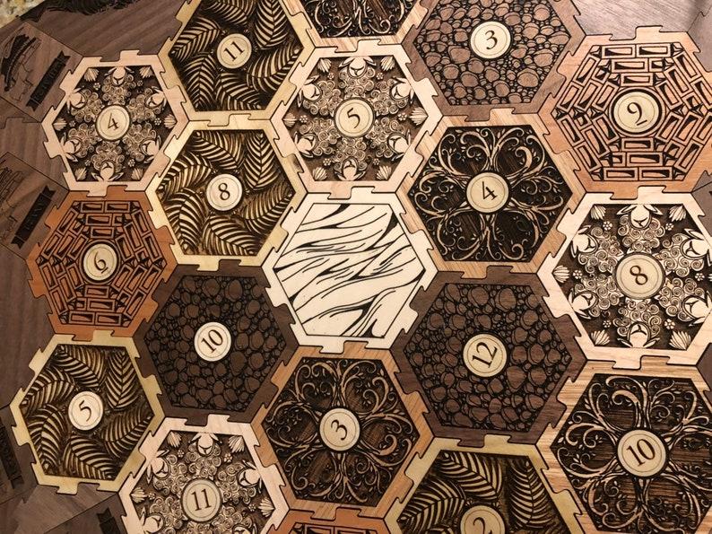 Premium Wooden Settlers Of Catan Tile Set