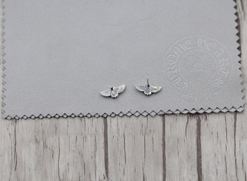 flying pigeon s925 sterling silver earing