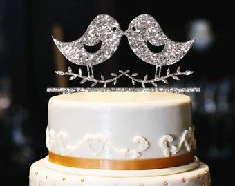 Love Birds Cake Topper, Love Birds Wedding Cake Topper, Engagement Cake Topper, Anniversary Cake Topper, Love Birds Topper