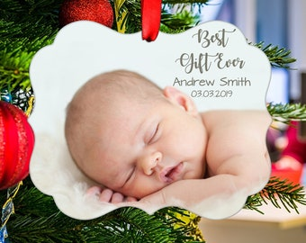 Baby First Christmas Ornament, Photo Christmas Ornament, Baby's First Christmas, Baby Christmas Ornament, Baby Shower Gift