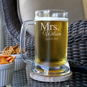 Personalized Beer Mug 11oz You /& Me Double Hearts with Arrows Motif 24pcs
