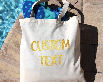 7098384708 Personalized Tote Bag Made Of Canvas