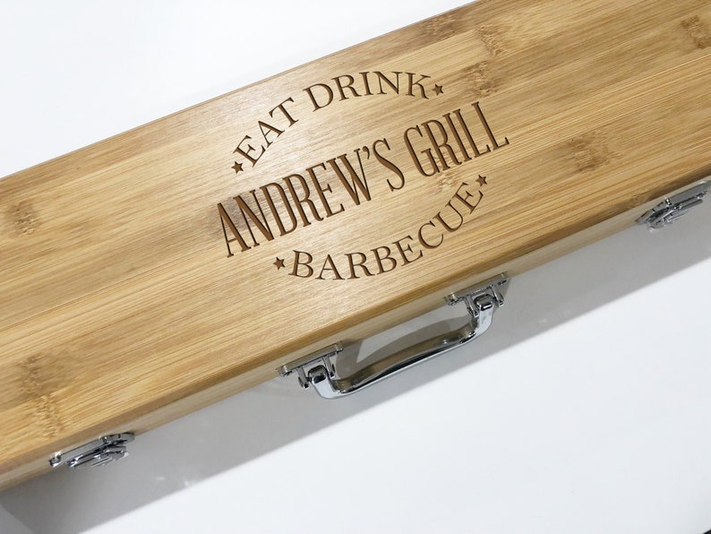 BBQ Set BBQ Grill Tool Set Personalized Barbecue Set image 0