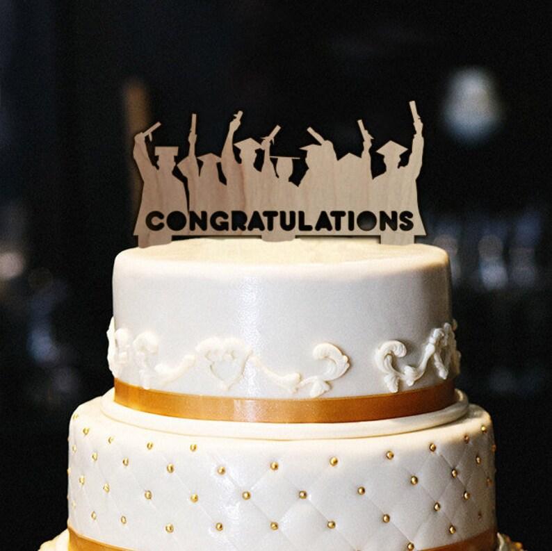 Congratulations Cake Topper Graduation Cake Topper Wood Cake Etsy