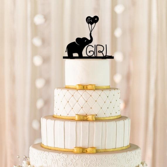 Its A Girl Cake Topper Baby Shower Cake Topper Gender Etsy