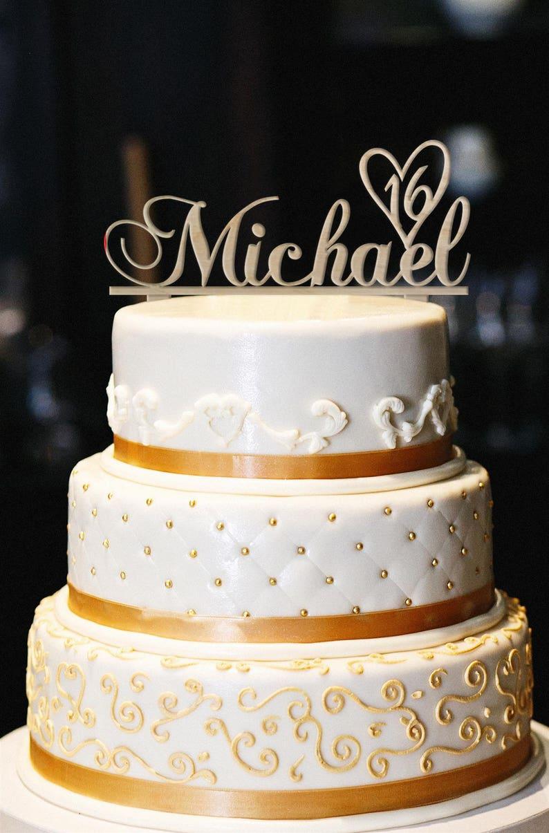 Custom Cake Topper Personalized Wood Birthday