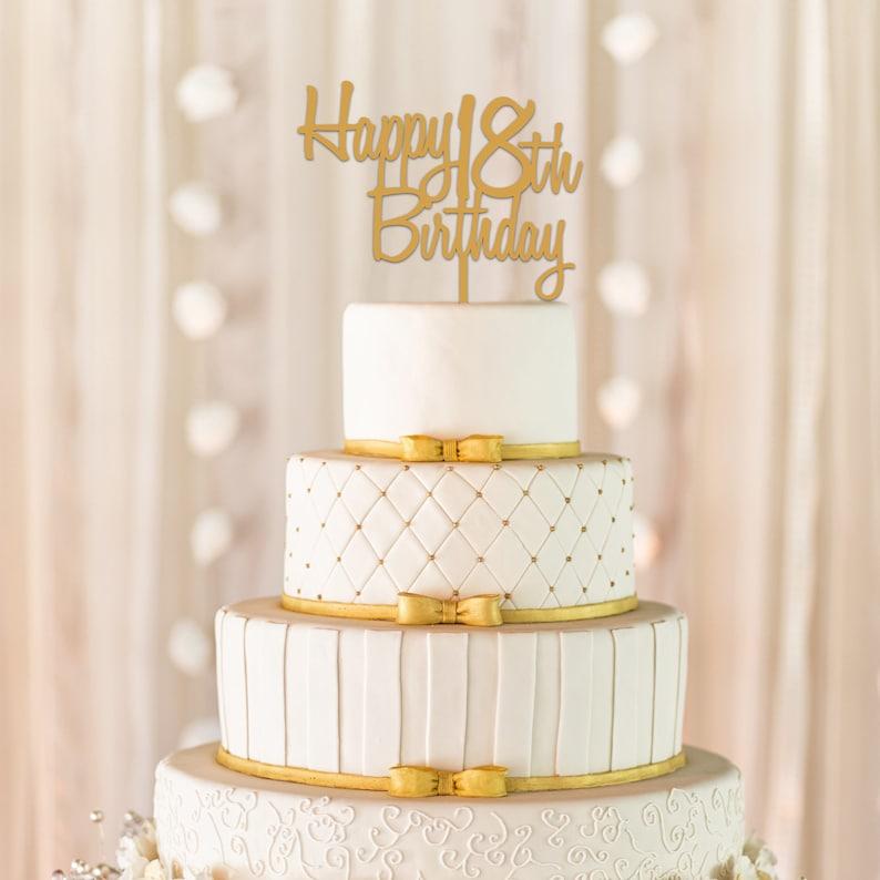 Custom Happy Birthday Cake Topper 18th
