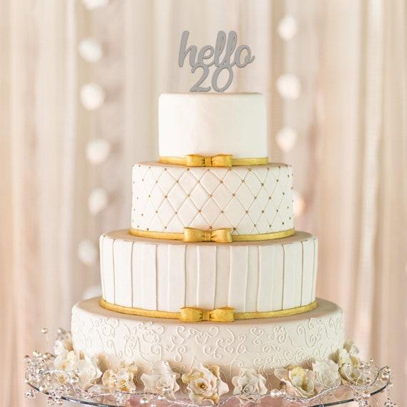 Hello 20 Cake Topper 20th Birthday Cake Topper Milestone Etsy