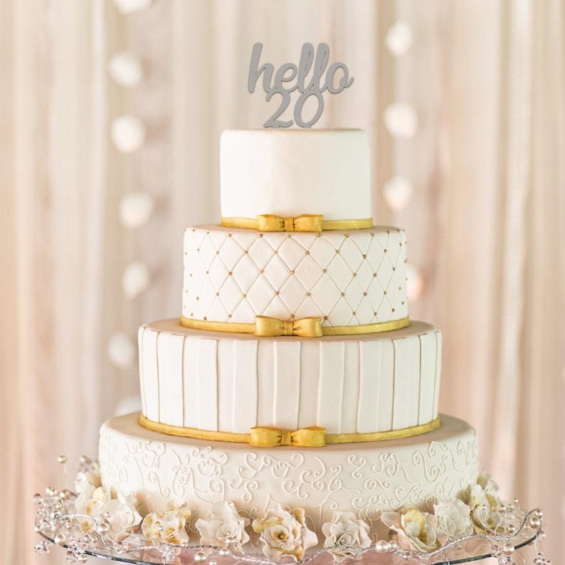 Hello 20 Cake Topper 20th Birthday Milestone