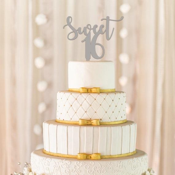 Sweet 16 Cake Topper 16th Birthday