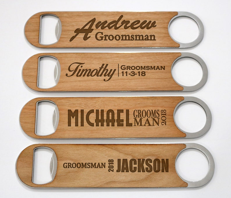 image 0  sc 1 st  Etsy & Groomsmen Gift Idea Personalized Bottle Opener Wedding Gift | Etsy