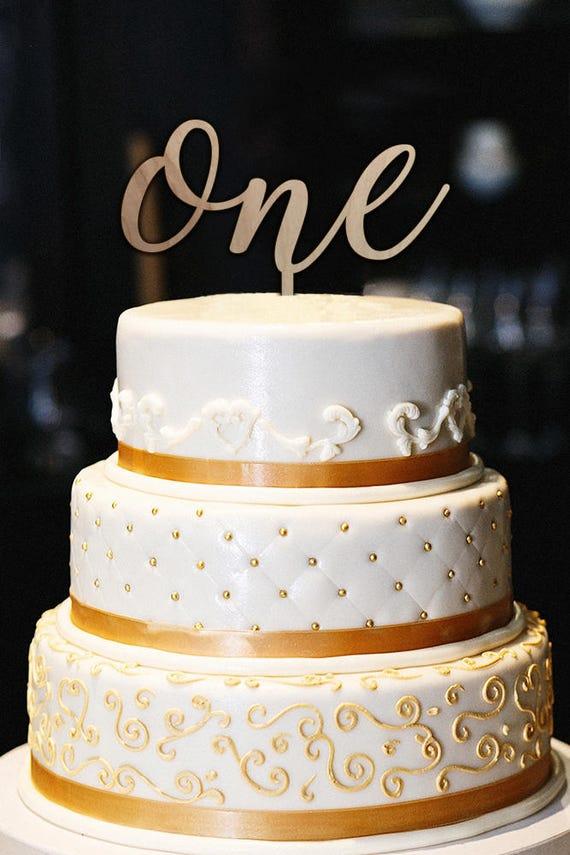 Marvelous Wood One Cake Topper First Birthday Cake Topper 1St Etsy Birthday Cards Printable Nowaargucafe Filternl