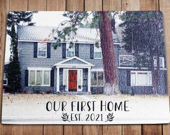 Personalized Puzzle, Housewarming Gift, First Home Gift, New Home Gift, Jigsaw Puzzle, Newlywed Gift, Wedding Gift, Picture Gift