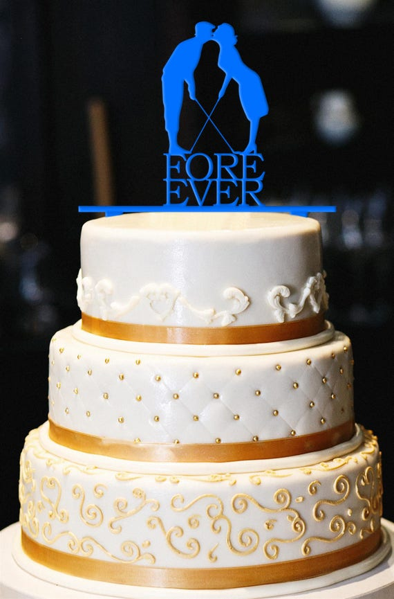 Fore Ever Golf Wedding Cake Topper Wedding Cake Topper Golf | Etsy