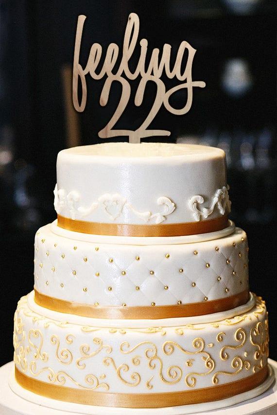 Enjoyable Feeling 22 Cake Topper Feeling 22 22Nd Birthday Cake Topper Etsy Birthday Cards Printable Trancafe Filternl
